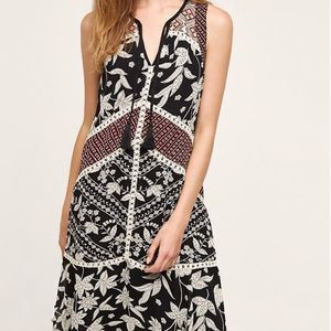 Floret Anthropologie Grasslands Midi Dress 0 NWT